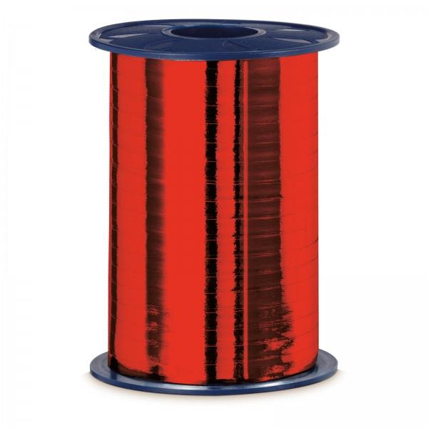"""Geschenkband """"Ringelband Metallic-Rot"""" 5mm x 400m"""