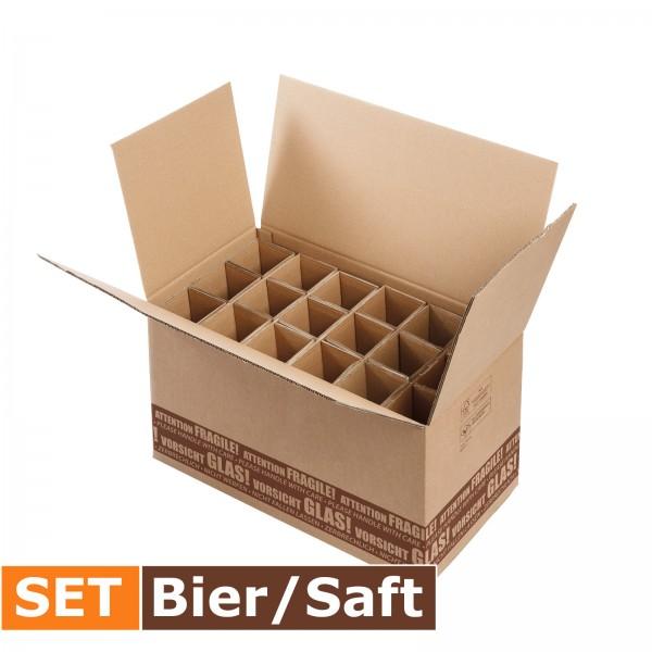 """""""S-LOG 280"""" Versandsystem 18er Bier/Saft SET"""