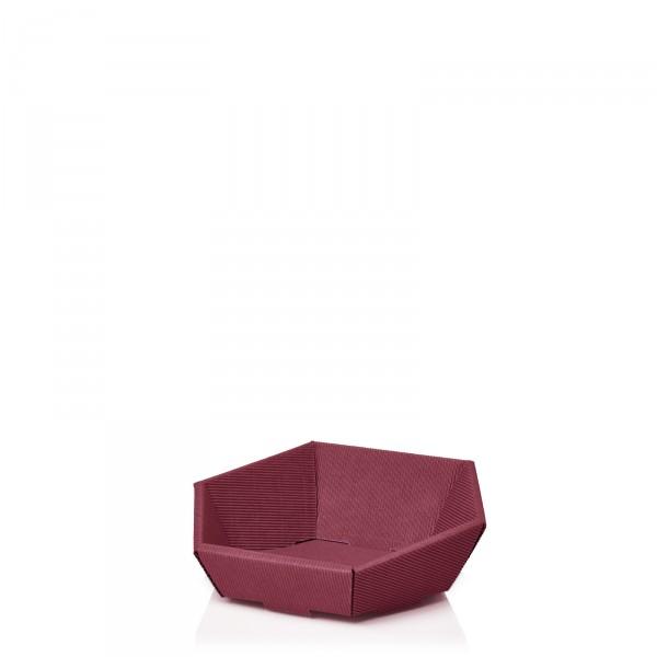 Präsentkorb 6-eckig Modern Bordeaux -mini-