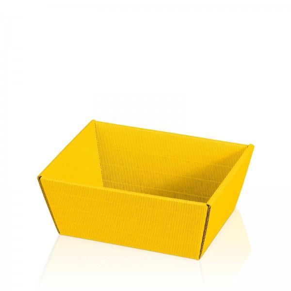 """Präsentkorb 4-eckig """"Modern Gelb"""" -klein-"""