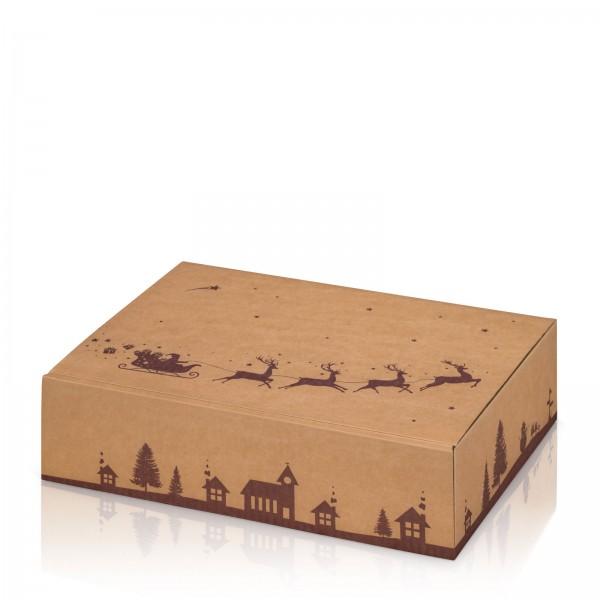 """Natura Weihnachtsschlitten"", 3er Präsentkarton"