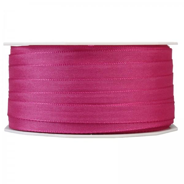 """Geschenkband """"Uni"""" Pink (Beere) 10mm x 50m"""