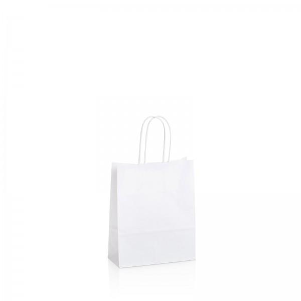 Einkaufstasche aus Kraftpapier Weiß -klein-
