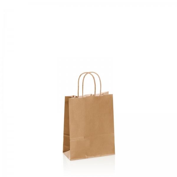 Einkaufstasche aus Kraftpapier Natur -klein-