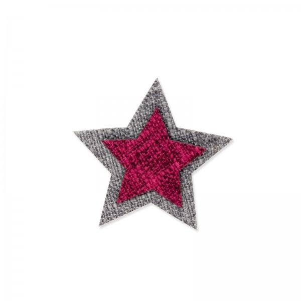 """""""Doppelstern"""" mit Klebepunkt, Rot/Grau"""