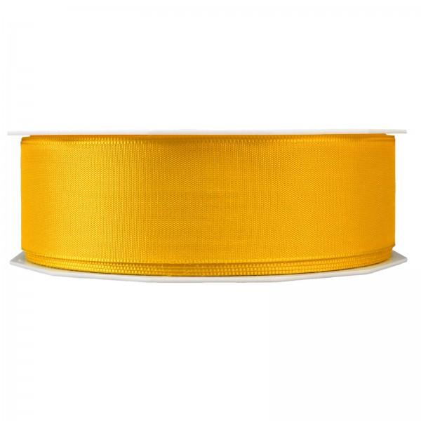 """Geschenkband """"Uni"""" Gelb 40mm x 50m"""