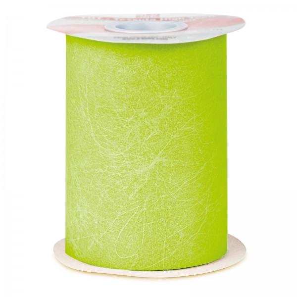 """Geschenkband """"Deko-Vlies"""" Hellgrün, 125mm x 50m"""