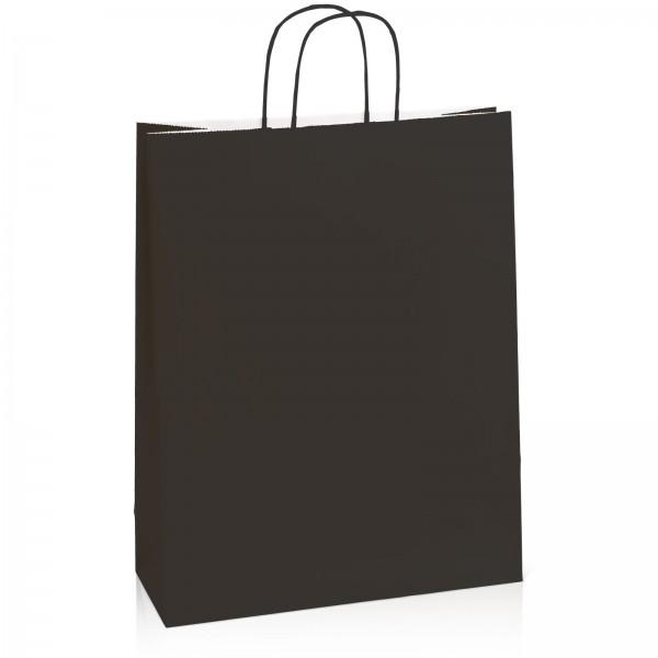 Einkaufstasche aus Kraftpapier Schwarz -XL-