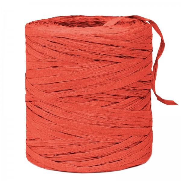"""Geschenkbast """"Paper-Raffia"""" Rot, 5mm x 200m"""
