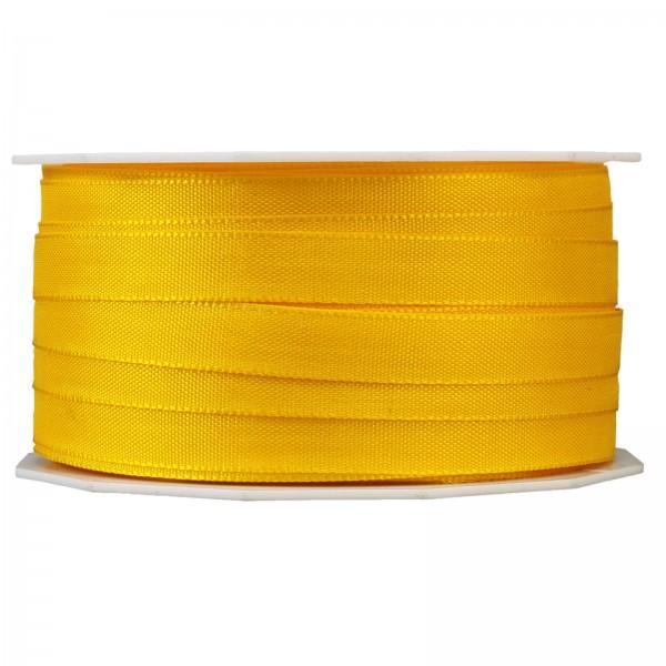 """Geschenkband """"Uni"""" Gelb 8mm x 50m"""