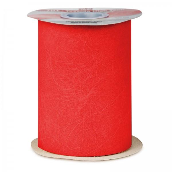 """Geschenkband """"Deko-Vlies"""" Rot, 125mm x 50m"""