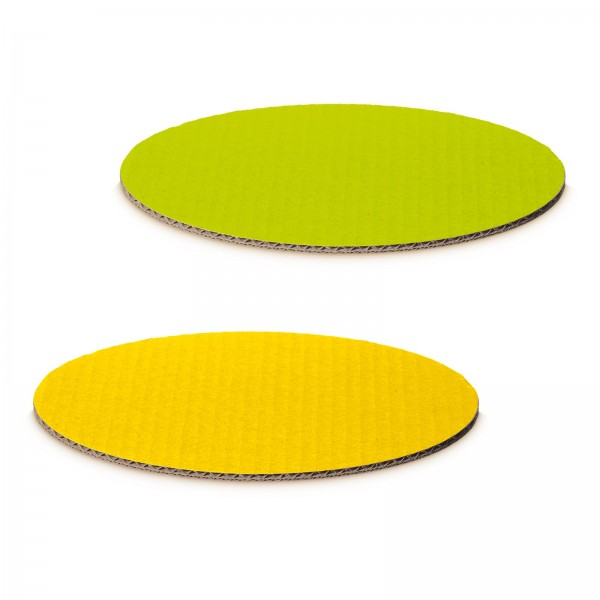 """""""Dekoplatte Limette/Gelb"""" -S- oval"""
