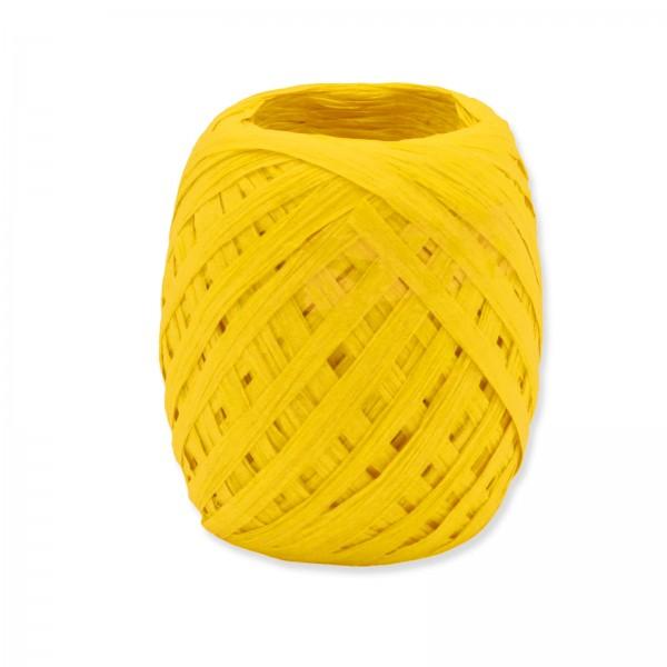 """Geschenkband """"Paper-Raffia"""" Gelb 5mm x 50m"""
