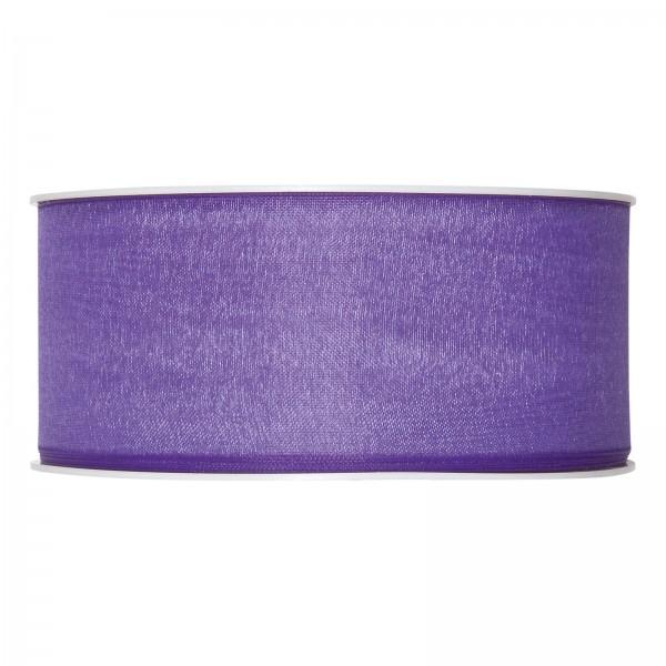 "Geschenkband ""Organza Lila (Lavendel)"" 40mm x 50m"