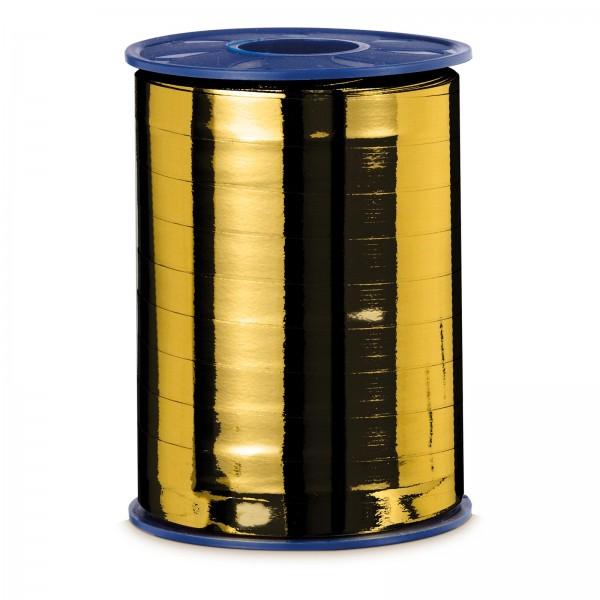 """Geschenkband """"Ringelband Metallic-Gold"""" 10mm x 250m"""