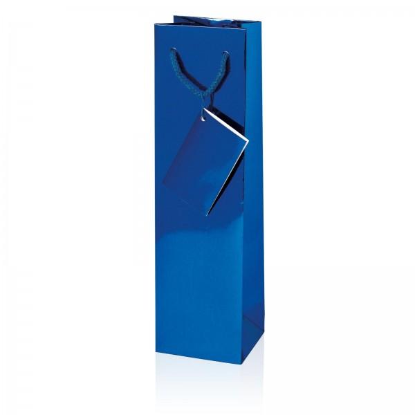 Tragetasche Metallic-Blau Hochglanz 1er