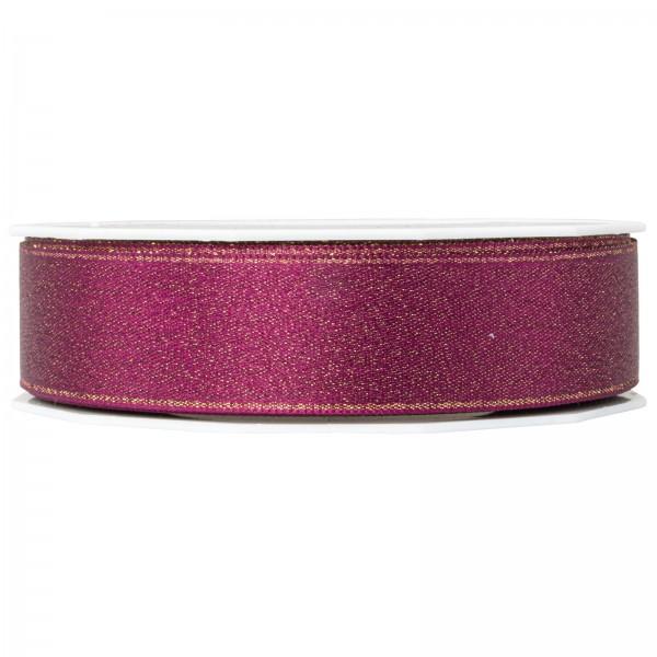 "Geschenkband ""Glitter Satin"" Purple 25mm x 20m"