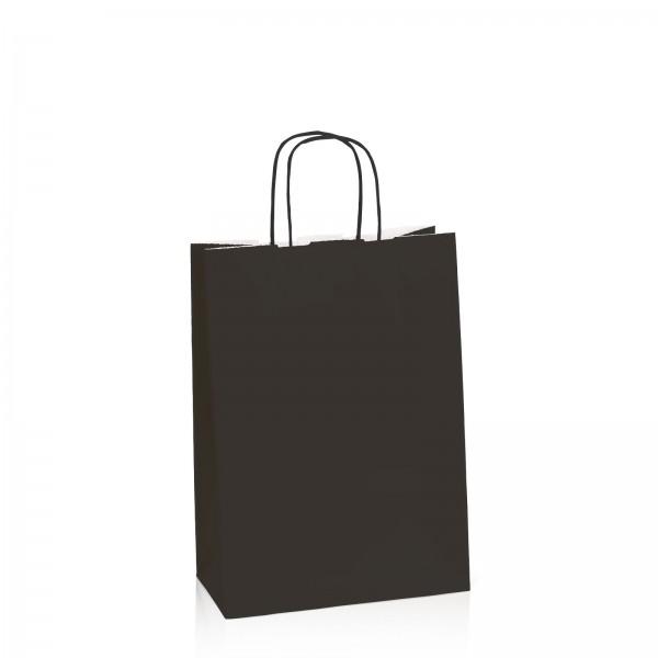 Einkaufstasche aus Kraftpapier Schwarz -M-
