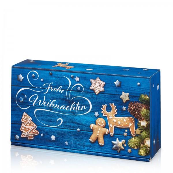 """""""Frohe Weihnachten Blau"""", 2er Präsentkarton"""