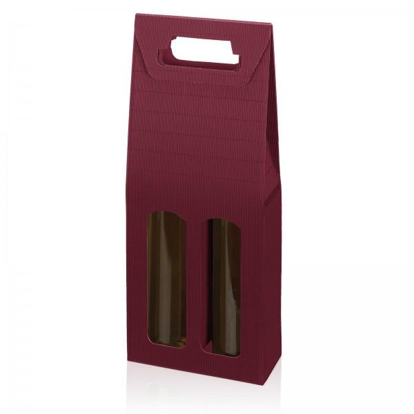 """Modern Bordeaux"", 2er Tragekarton"