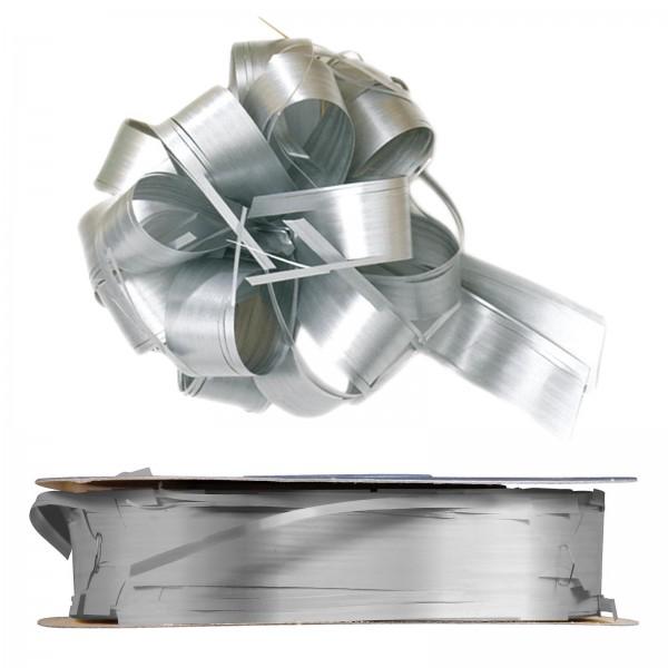 """Ziehschleifenband Country Silber"" 25mm x 40m"
