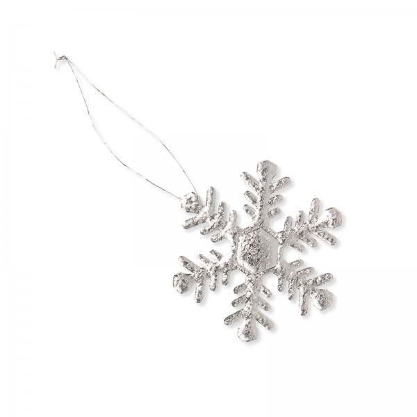"""Anhänger """"Eiskristall"""" Silber 65mm"""