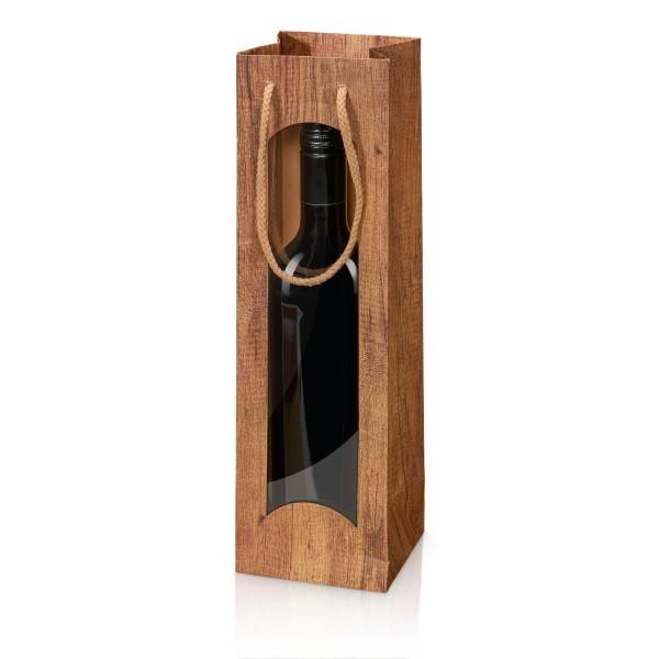 """Papiertragetasche """"Timber"""" mit Fenster 1er"""