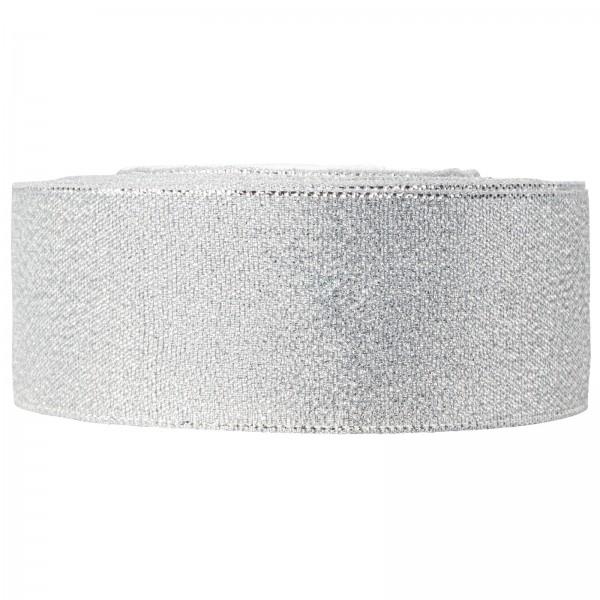 "Geschenkband ""Lurex"" Silber 40mm x 22m"
