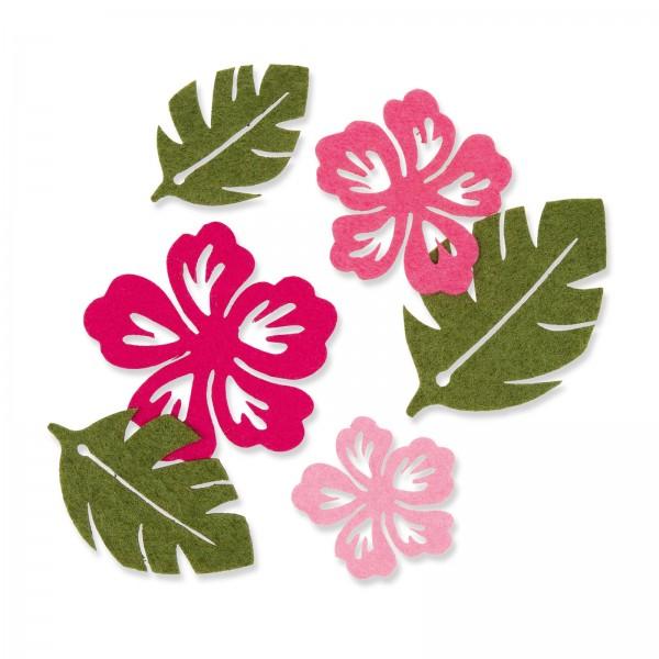 """Filzsortiment """"Blüten & Blätter"""", 6 Stück im Set"""