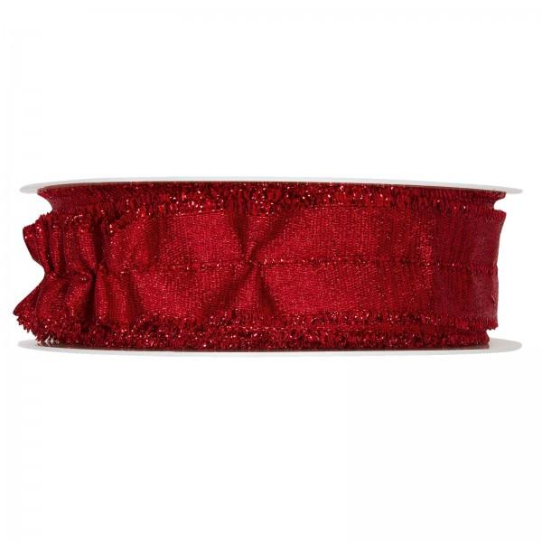 Lurexband raffbar, Rot 30mm x 18m