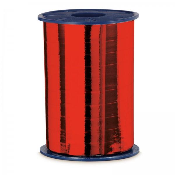 """Geschenkband """"Ringelband Metallic-Rot"""" 10mm x 250m"""