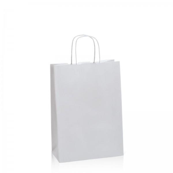 Einkaufstasche aus Kraftpapier Mattsilber -M-