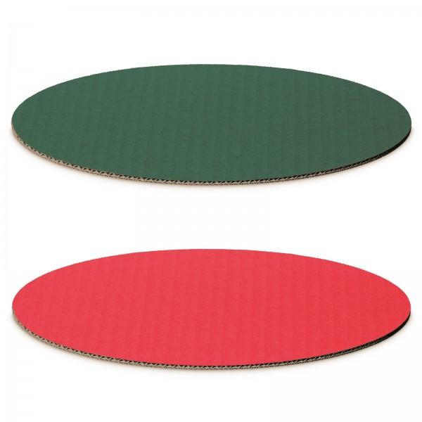 """""""Dekoplatte Rot/Grün"""" -M- oval"""