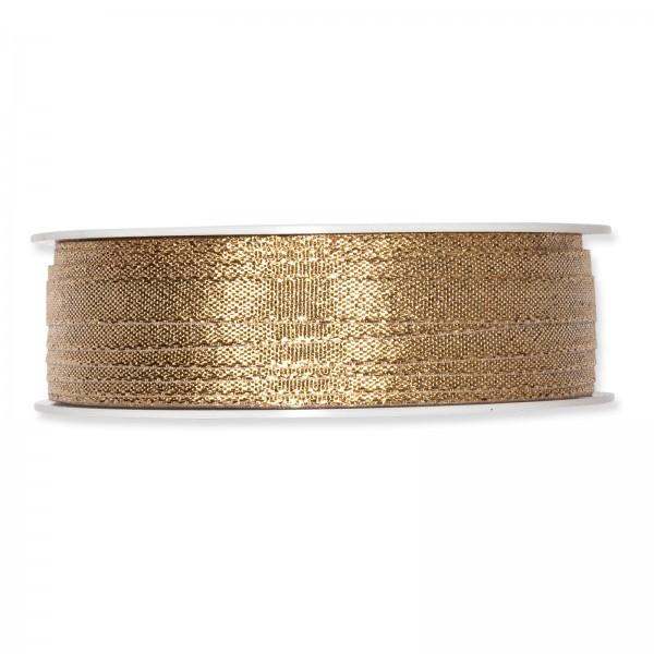 """Geschenkband """"Uni"""" Lurex-Gold 6mm x 50m"""