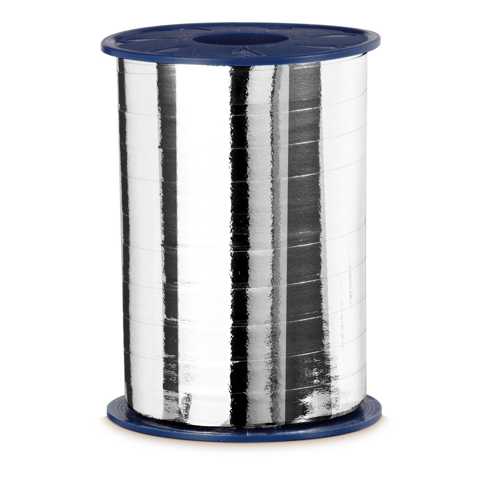 Geschenkband ringelband metallic silber 10mm x 250m for Restposten dekoartikel