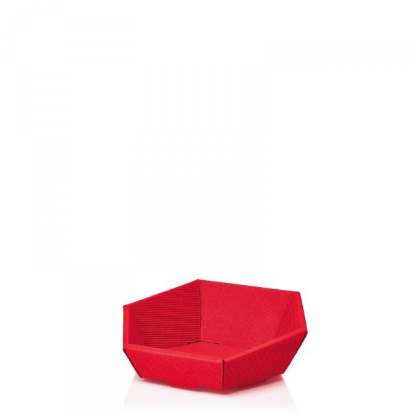 "Präsentkorb 6-eckig ""Modern Rot"" -mini-"