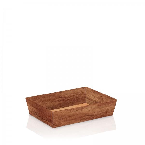 "Präsentkorb 4-eckig ""Timber"" -flach mini-"