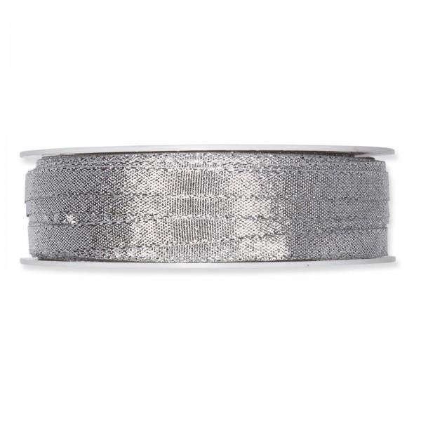 """Geschenkband """"Uni"""" Lurex-Silber 6mm x 50m"""