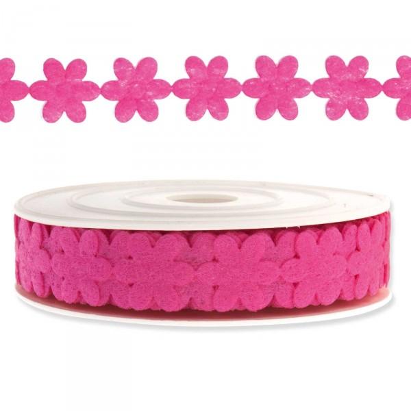 "Geschenkband ""Blütengirlande"", 18mm x 9,14m, Pink"