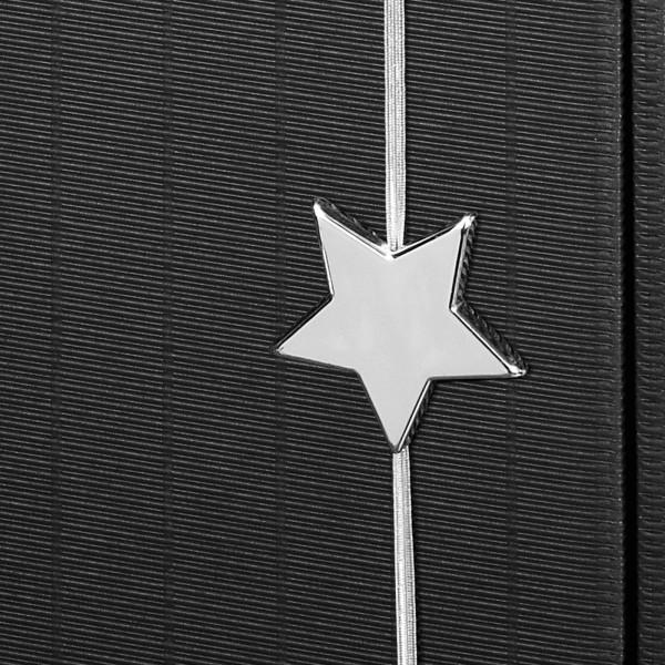 """Dekoelement """"Flashlight"""" Stern Silber mit Gummiband Ø 5 -6 cm"""