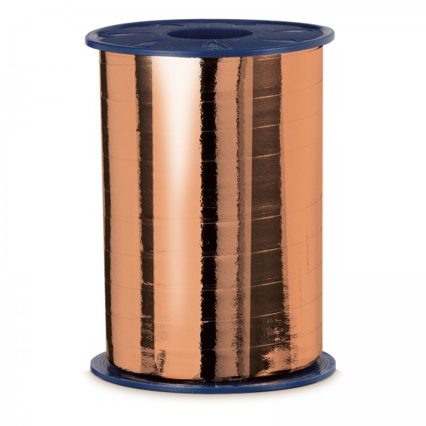 "Geschenkband ""Ringelband Metallic-Kupfer"" 10mm x 250m"