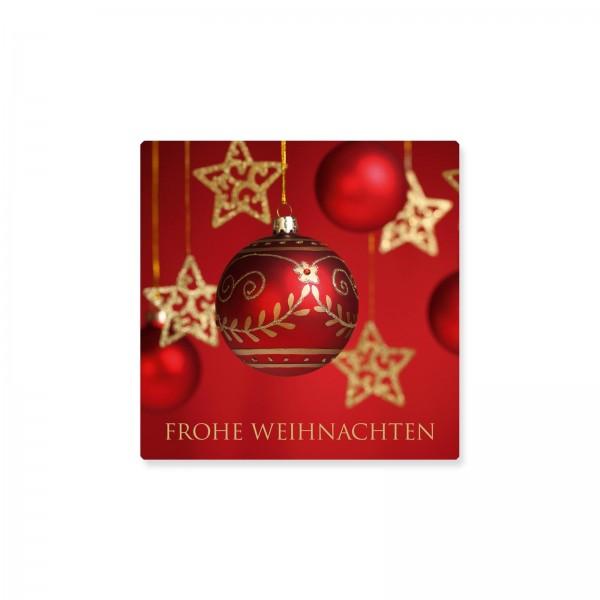 """Klebeetiketten """"Frohe Weihnachten"""" Rot, 500 Stück"""