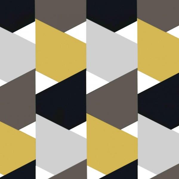 """Geschenkpapier """"Style"""" Schwarz-Gold-Silbergrau"""