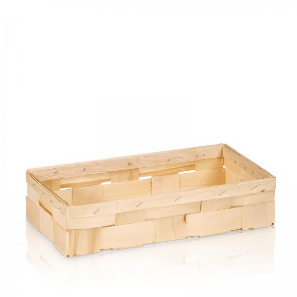 Holzspankorb Natur 2er Wein/Sekt