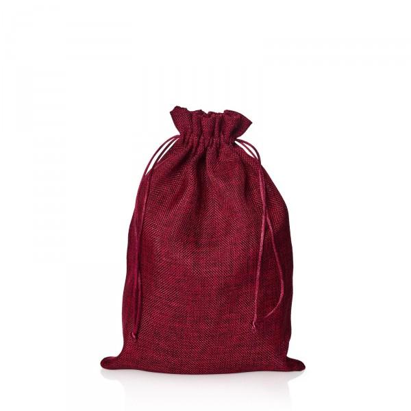 Jute-Geschenkbeutel Rot, 30cm x 20cm