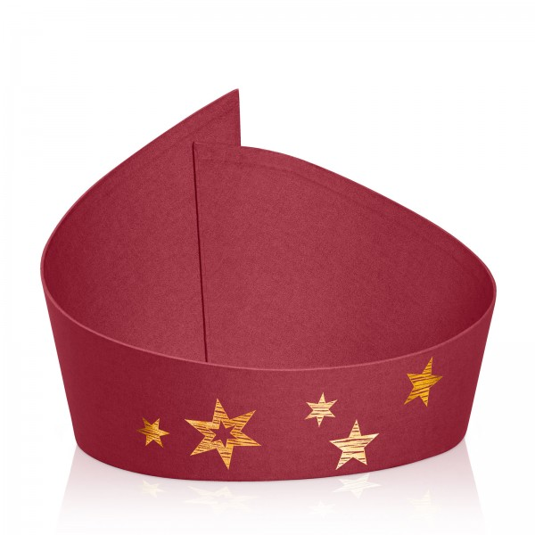 "Präsentkorb ""Swing Stars"" Bordeaux mit Goldfolienprägung"
