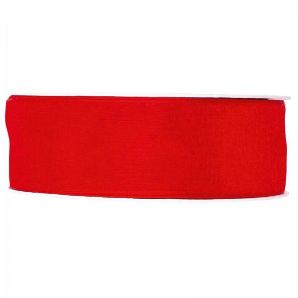 """Geschenkband """"Organza Rot"""" 40mm x 50m"""