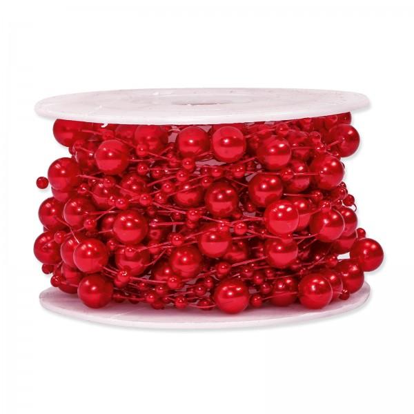 Perlenschnur Rot, ø 8mm x 10m