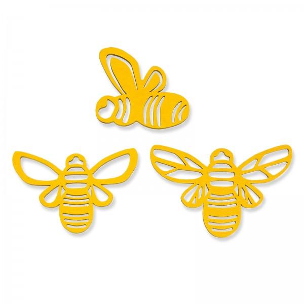 "Holz-Streudeko ""Biene"" sortiert, Beutel mit 24 Stück"