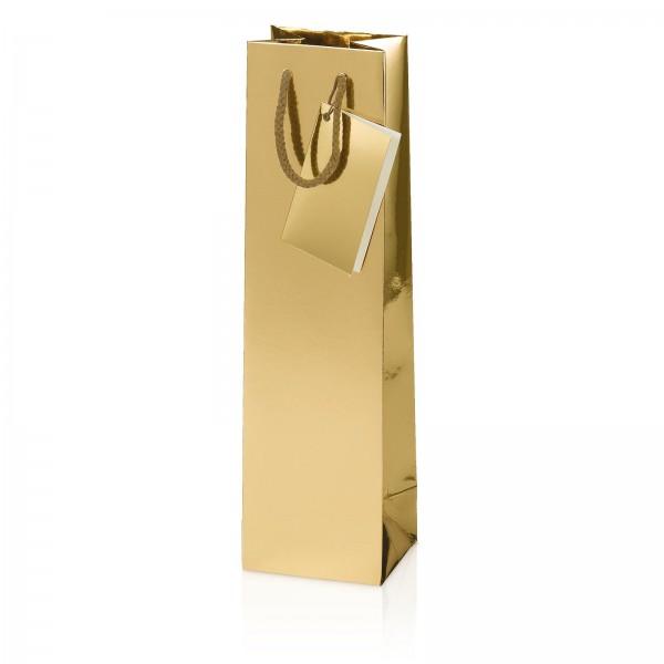 Tragetasche Metallic-Gold Hochglanz 1er